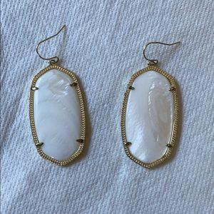 Kendra Scott Drop Earrings - White